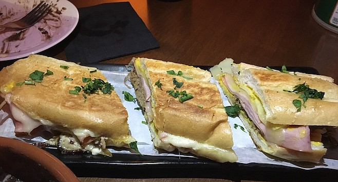 Havana's Cuban sandwich has roasted pork, ham, swiss cheese, pickles and mustard and comes on a large loaf of bread.