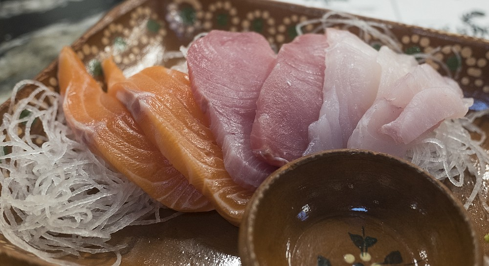 Raw fish worthy of better knifework.