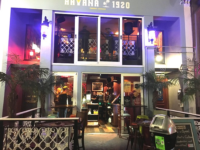 Havana 1920 is upstairs from Prohibition Bar in the Gaslamp.