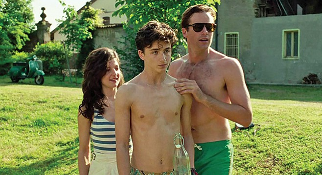 """Call Me By Your Name: """"Don't look now, but there's one of those gross girl people behind us."""""""