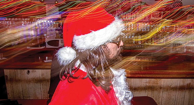 Santa at the Star Bar, downtown San Diego. Who the hell had been answering my letters? - Image by Matthew Suárez