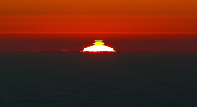 The ethereal green flash in action