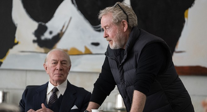 It's deja vu all over again as Ridley Scott redirects the J. Paul Getty scenes, this time with Christopher Plummer in the role.