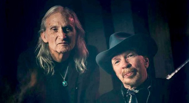 Dave Alvin and Jimmie Dale Gilmore, keeping countrified roots music alive