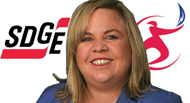 Kathleen Coates Hedberg was told her hubbie's employment with SDG&E precluded her from voting on power-company-related decisions.