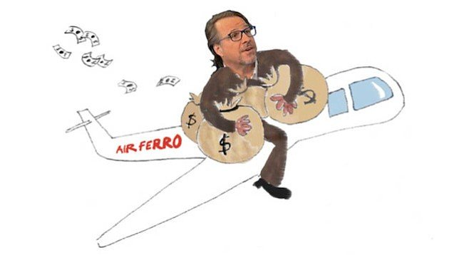 Michael Ferro (as depicted by the Los Angeles Times Guild)
