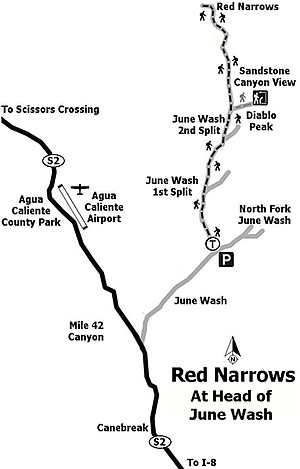 Many years ago, vehicles could drive up June Wash.