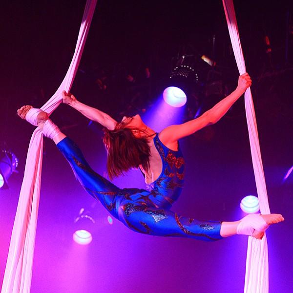 Carnaval Fantastique, acrobats + Vegas-style dancers + lasers