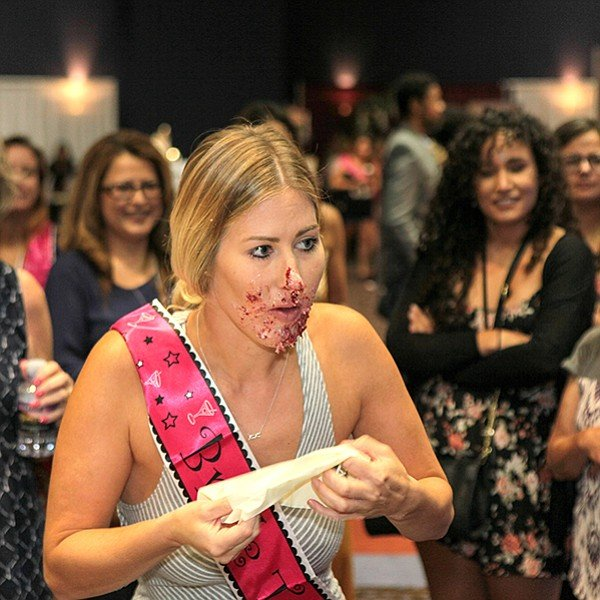 One of the many contests at Kiss the Bride
