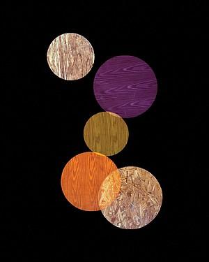Purple, Orange, Yellow Circles, Alejandra Laviada, 2014