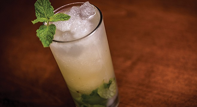 """Typically a mojito is made with an unaged rum, which is going to be a little harsh"""