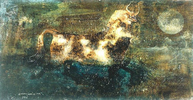 Pied Cow of Heath, Leonora Carrington, 1956
