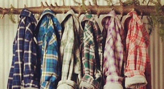 Hipsters love thick, fluffy flannel shirts and jackets fit for lumberjacks.