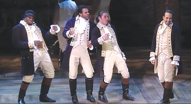 Hamilton cast.  A replica, not the original.