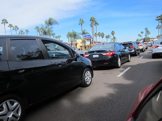 The traffic on Rosecrans wasn't much better.