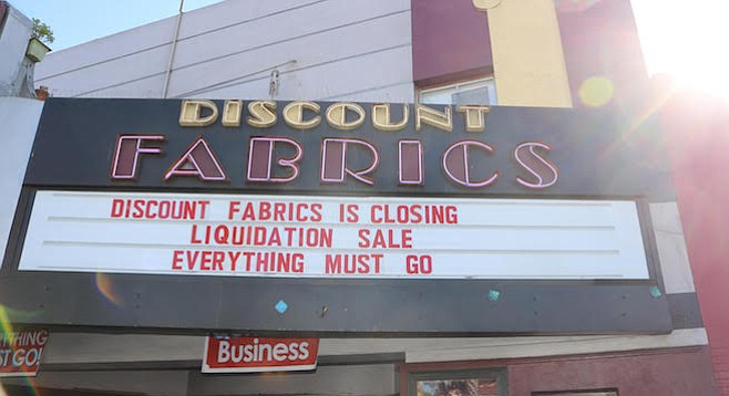 Discount Fabrics has done business on Adams Avenue for 30 years.