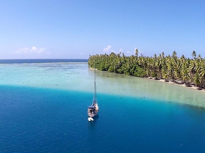 Suncoast Yacht Consultants, Michael & Melissa on their Island Packet in Raiatea, French Polynesia