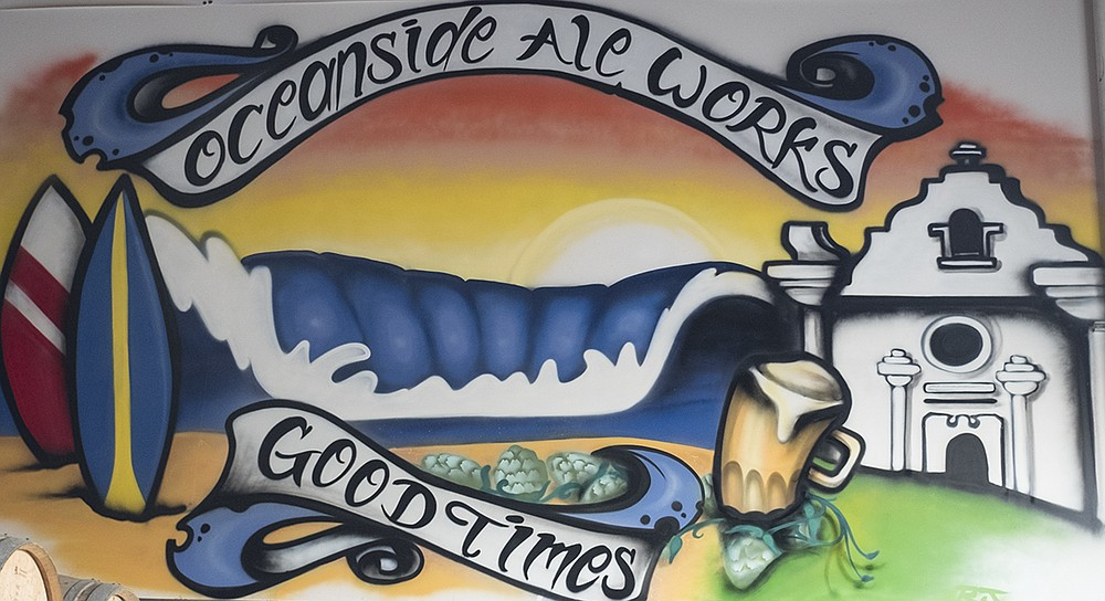 A mural decorating 12-year-old Oceanside Ale Works, which closed on January 6th.