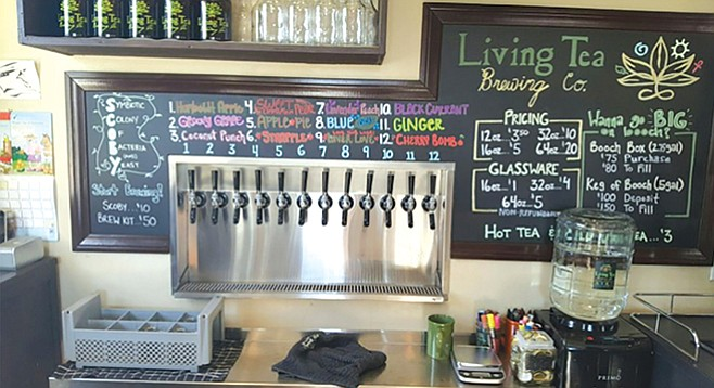 Living Tea's 16 taps