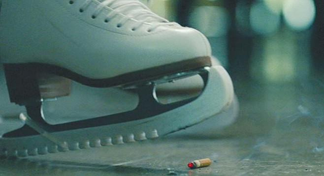 I, Tonya: Don't skate and smoke. Irony done right in this memorable moment from the film.
