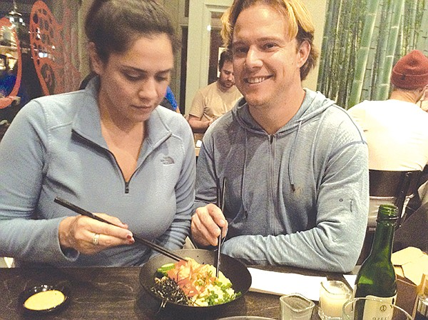 Gina and Justin with Volcano poke