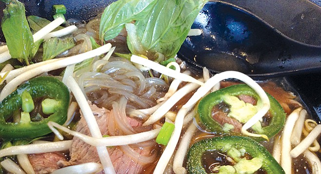 Stacy says hoisin and Sriracha go best with pho.