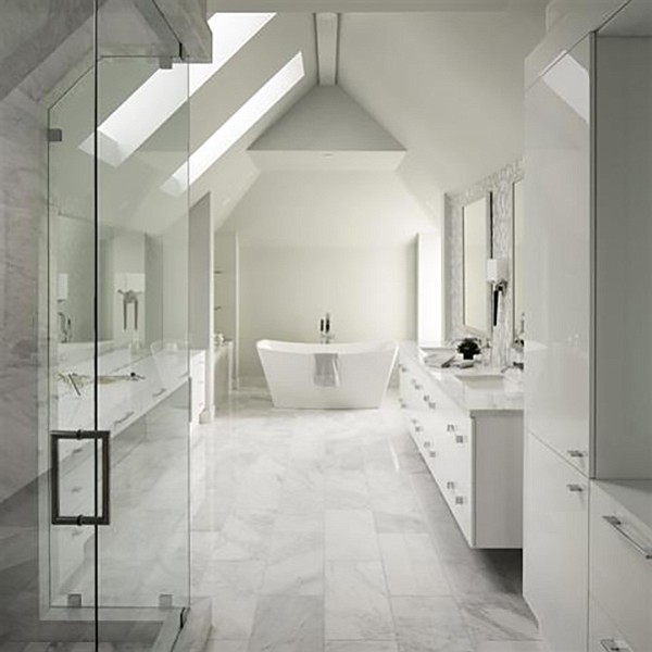 "A bathroom ""bathed in natural light"""