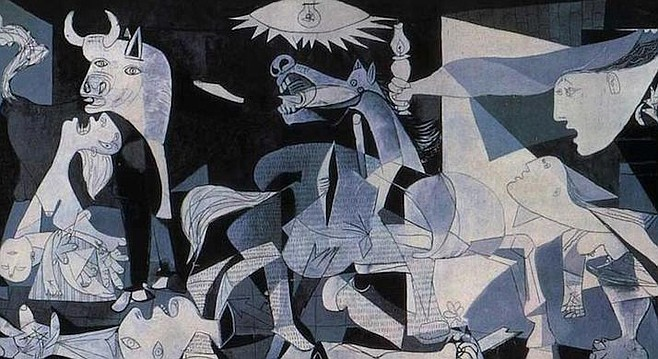 We're inspired by the mainstream in the way that the bombing of Guernica inspired Picasso.