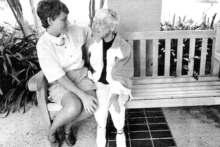 Kathy Ferdinandson and Mary Wehlage. Mary's husband Joe was Kathy's first hospice patient.