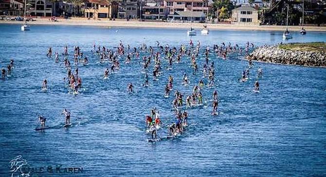 The short course starts at Bonita Cove and goes past SeaWorld.