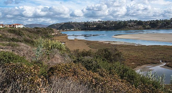 Sand bars were created as least tern nesting sites.