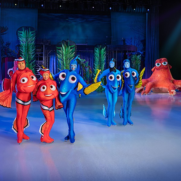 Characters from Finding Dory and Inside Out take to the ice
