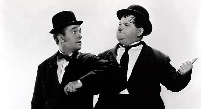 """Laurel and Hardy Flirt with Females…and Live to Regret It."""