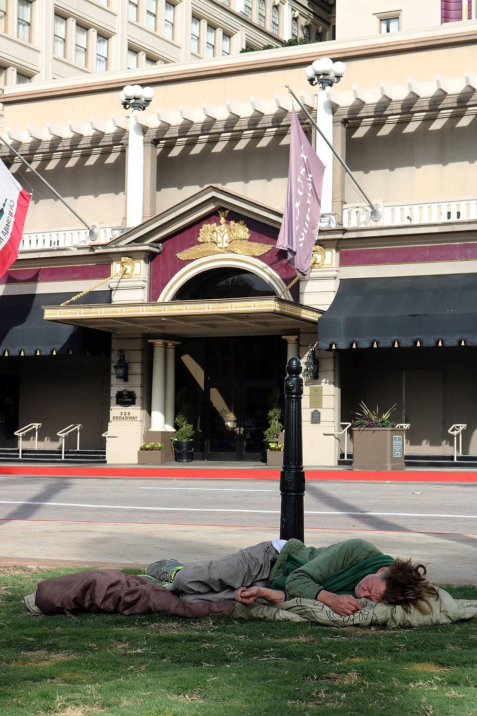 """Homeless Plaza"" today."