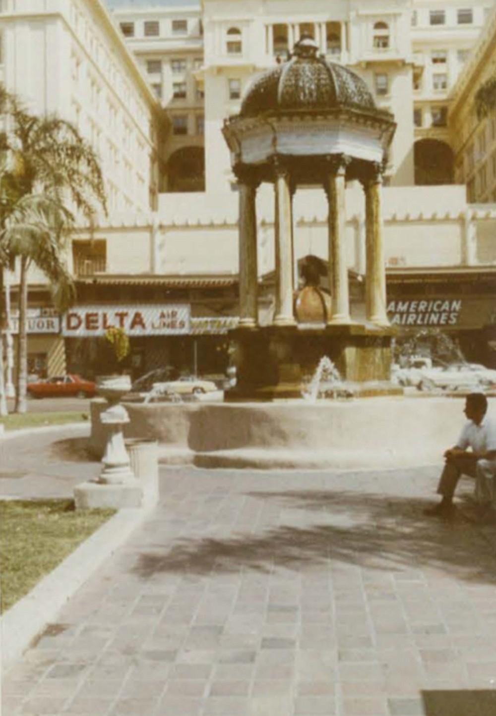 The plaza, circa 1960s.