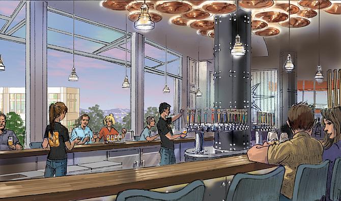 Artist's rendering of the bar of Ballast Point Disney