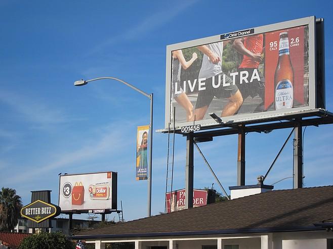 The last two billboards in Fleet Ridge