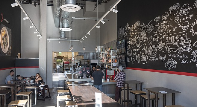 A fast casual counter service restaurant serving Filipino and Asian fusion cuisines