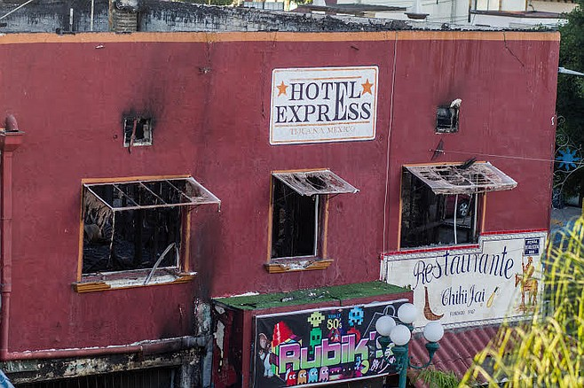 The fire is said to have begun in the hotel above the restaurant.