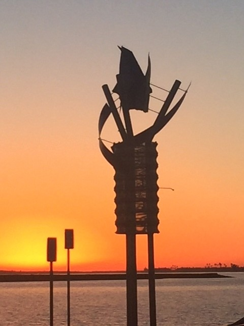 A beautiful sunset at J St Marina in Chula Vista.