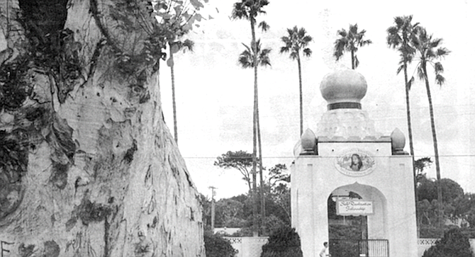 """Self-Realization Fellowship, Encinitas. Yogananda was distressed to note the disappearance of the """"For Sale"""" sign. - Image by Robert Burroughs"""