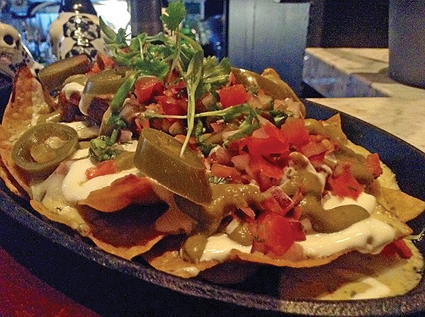 Pork belly nachos