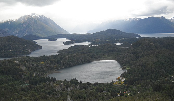 The town of Bariloche lies on the shores of Nahuel Huapí in northwest Patagonia.