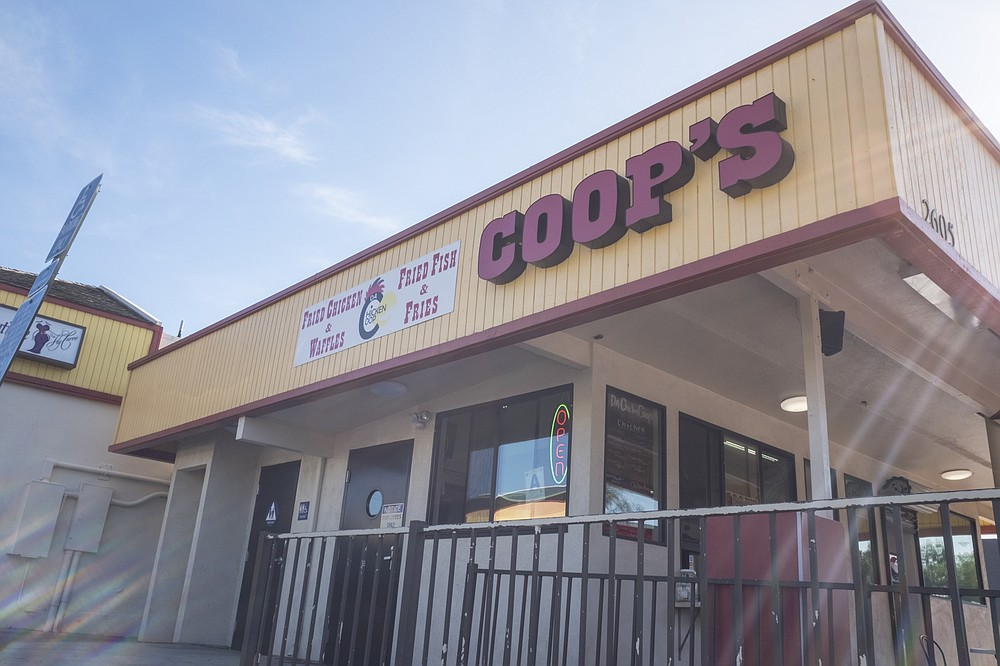 Coop's fried chicken restaurant returned after a brief hiatus.