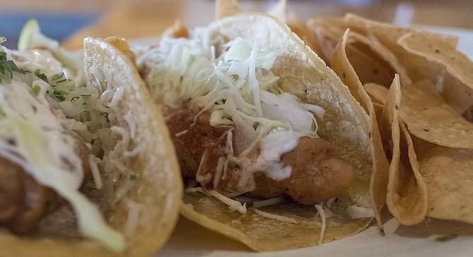 """An """"original fish taco"""" made with Alaskan pollock."""