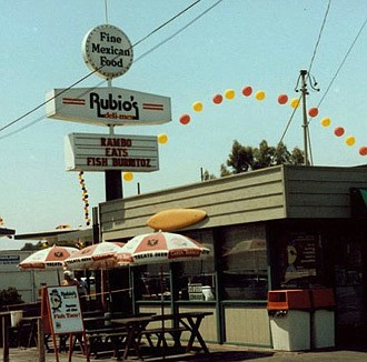 A photo of the original Rubio's from back in the 80s (photo courtesy of Rubio's Coastal Grill).