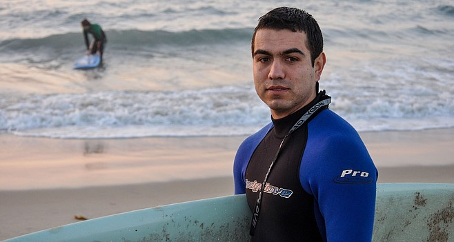 """Tyler Vasquez: """"I like to see the view of the waves from the opposite side."""""""