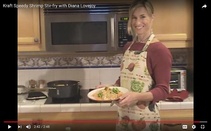 Diana made a YouTube video. screen grab