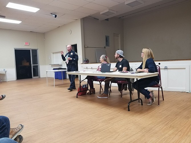 The kick-off neighborhood watch meeting was on January 31.