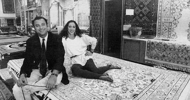 Arjang Esmainzadeh and Marjan Etemedlich. Arjang is known about La Jolla for his fancy cars and his silk suits.